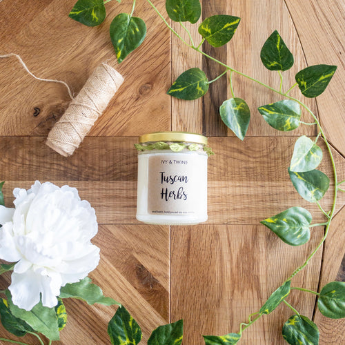 ivy and twine candles, rhubarb and plum candle, handpoured candles.