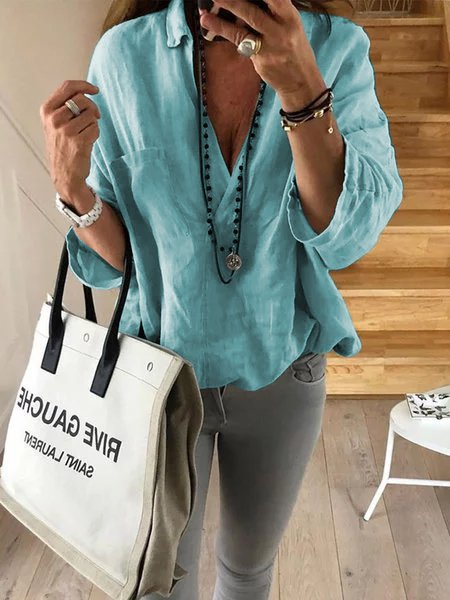 Plus Size Cotton Loose casual tops