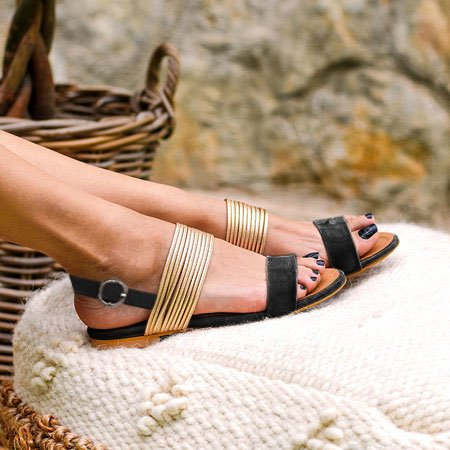 Slip-On Buckle Holiday Sandals