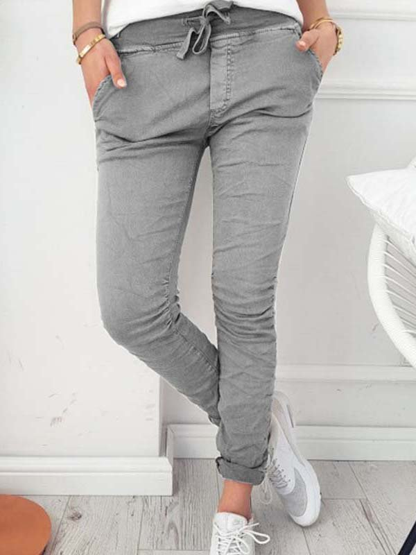 Sheath Cotton Casual Pants