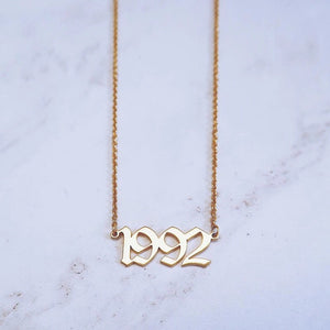 Personalized Year Necklace (Gold Necklace)