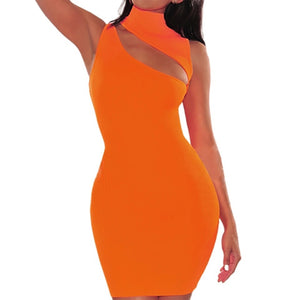 neon dress, neon orange dress,neon yellow dress