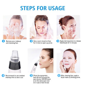 Professional Electric Face deep cleaning Blackhead An Acne Removal Pore vacuum