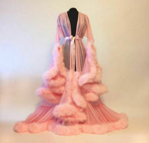 Royale Feather Lingerie Robe