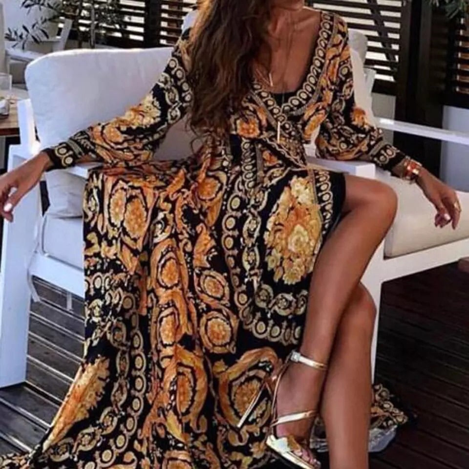 Royale Long sleeve Boho Luxury Gown