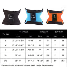 Load image into Gallery viewer, Fitness Belt Xtreme Power Thermo Hot Body Shaper Waist Trainer Trimmer Corset Waist Belt Cincher Wrap Workout Shapewear Slimming