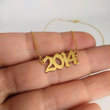 Load image into Gallery viewer, Personalized Year Necklace (Gold Necklace)