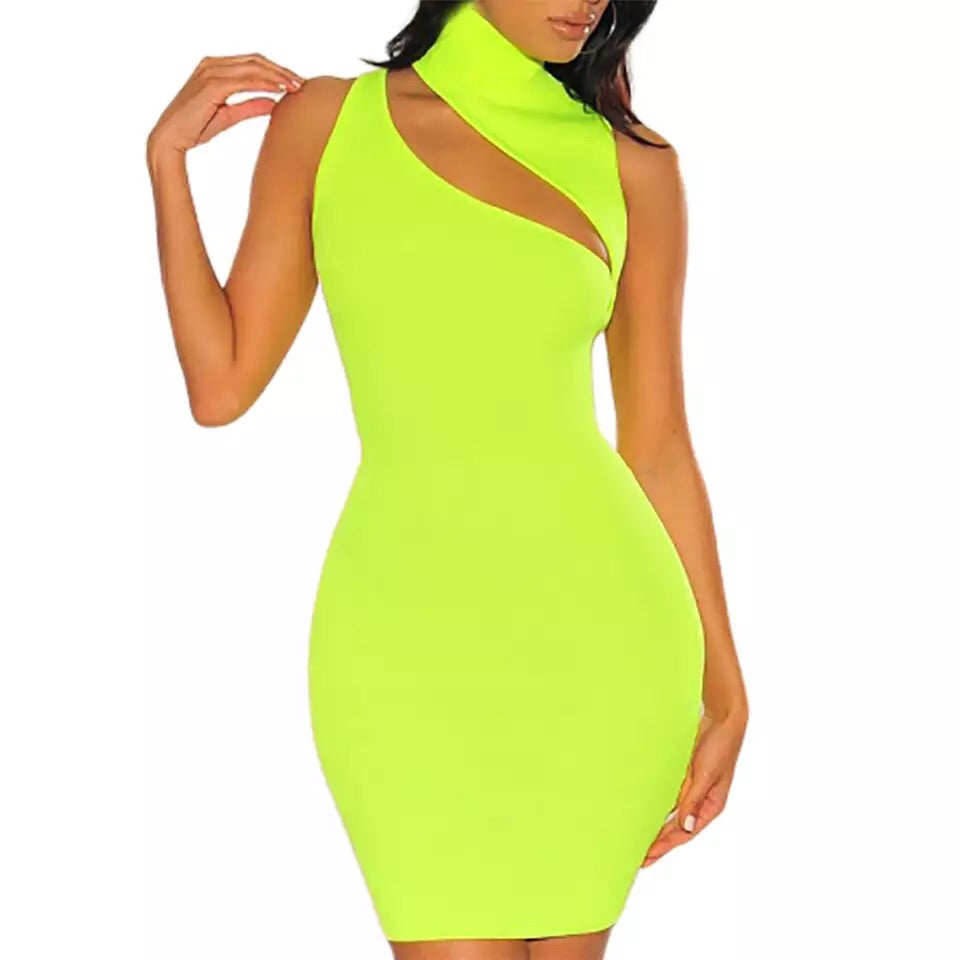 neon dress,neon green dress,bodycon dress