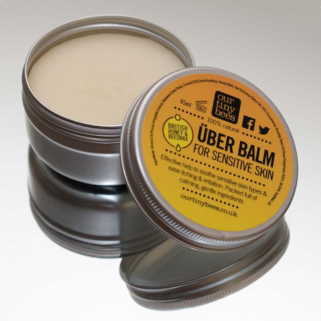 Our tiny bees uber balm reflection
