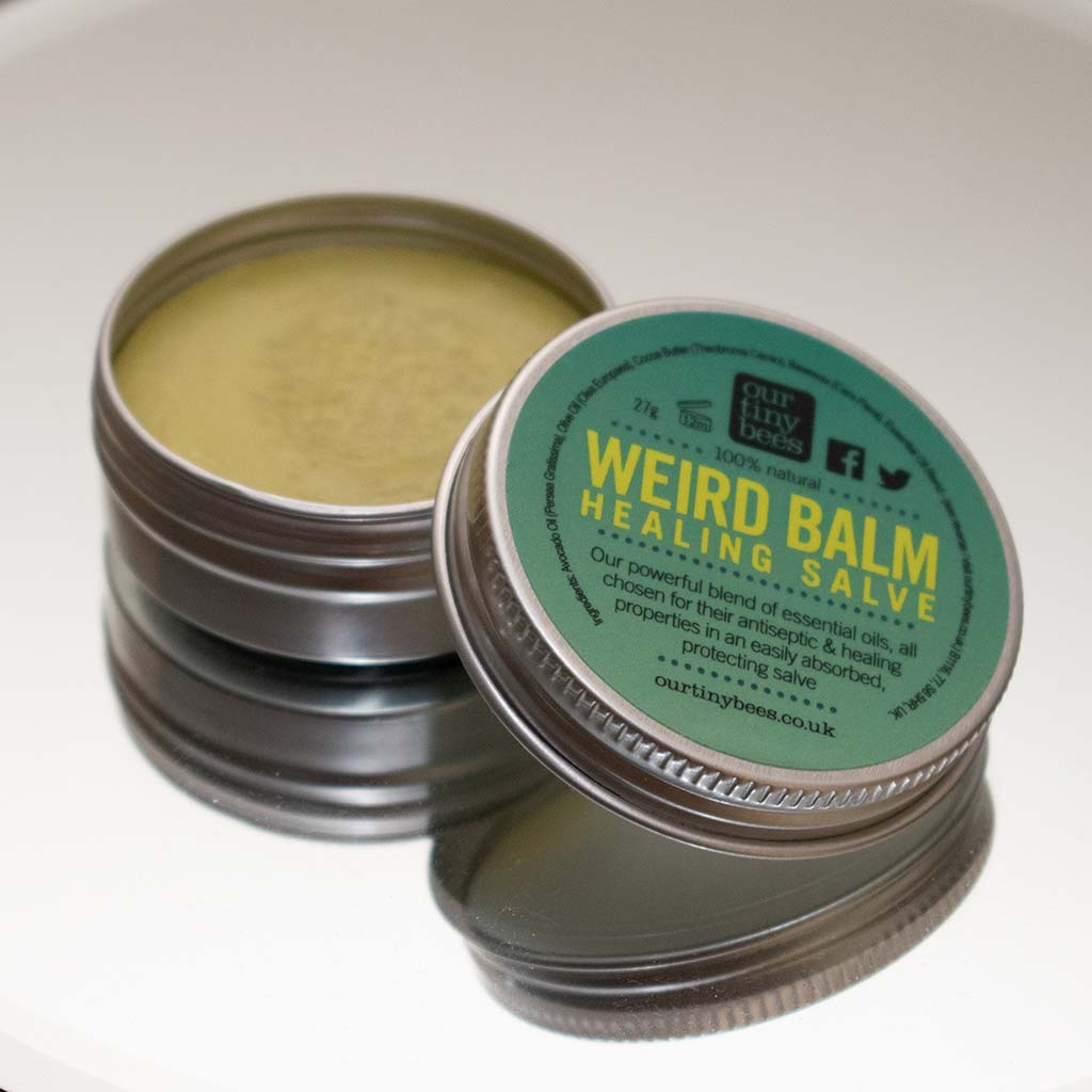 Our tiny bees weird balm reflection