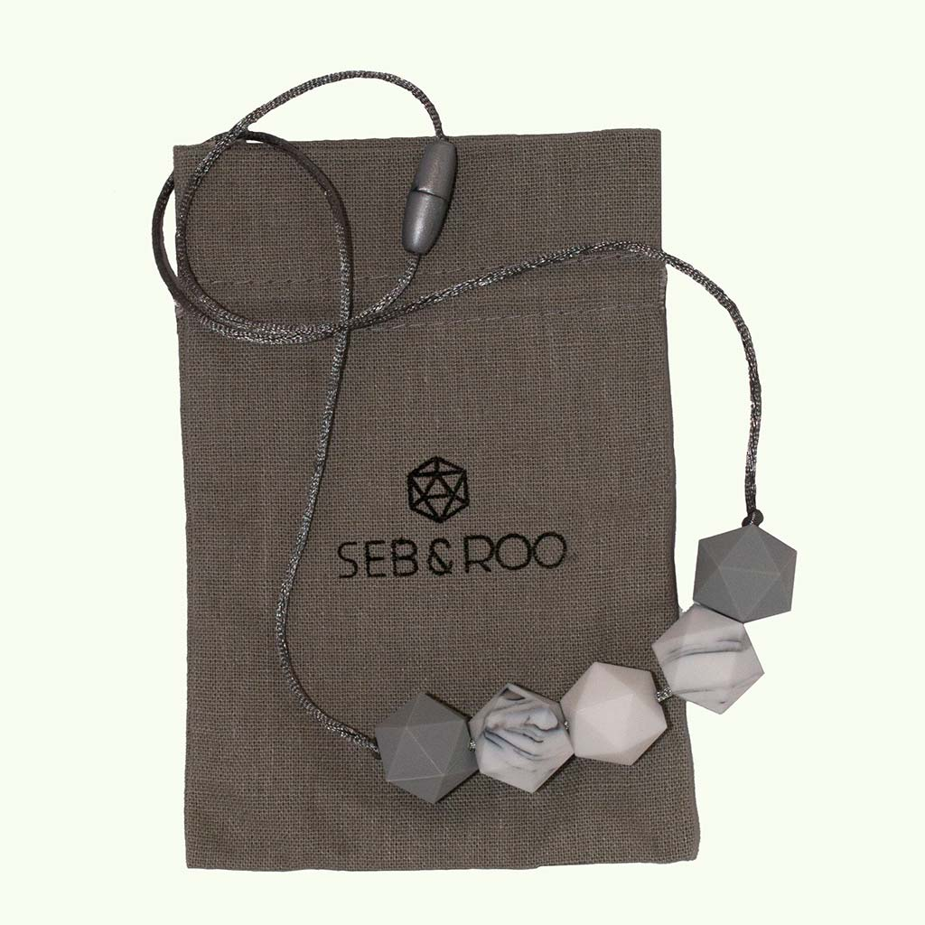 Seb and Roo teething necklace