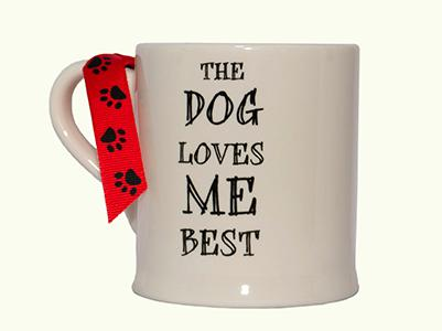 Sweet William The dog loves me best Mug