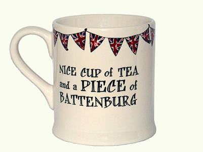 Sweet William Nice cup of tea and a piece of Battenburg mug