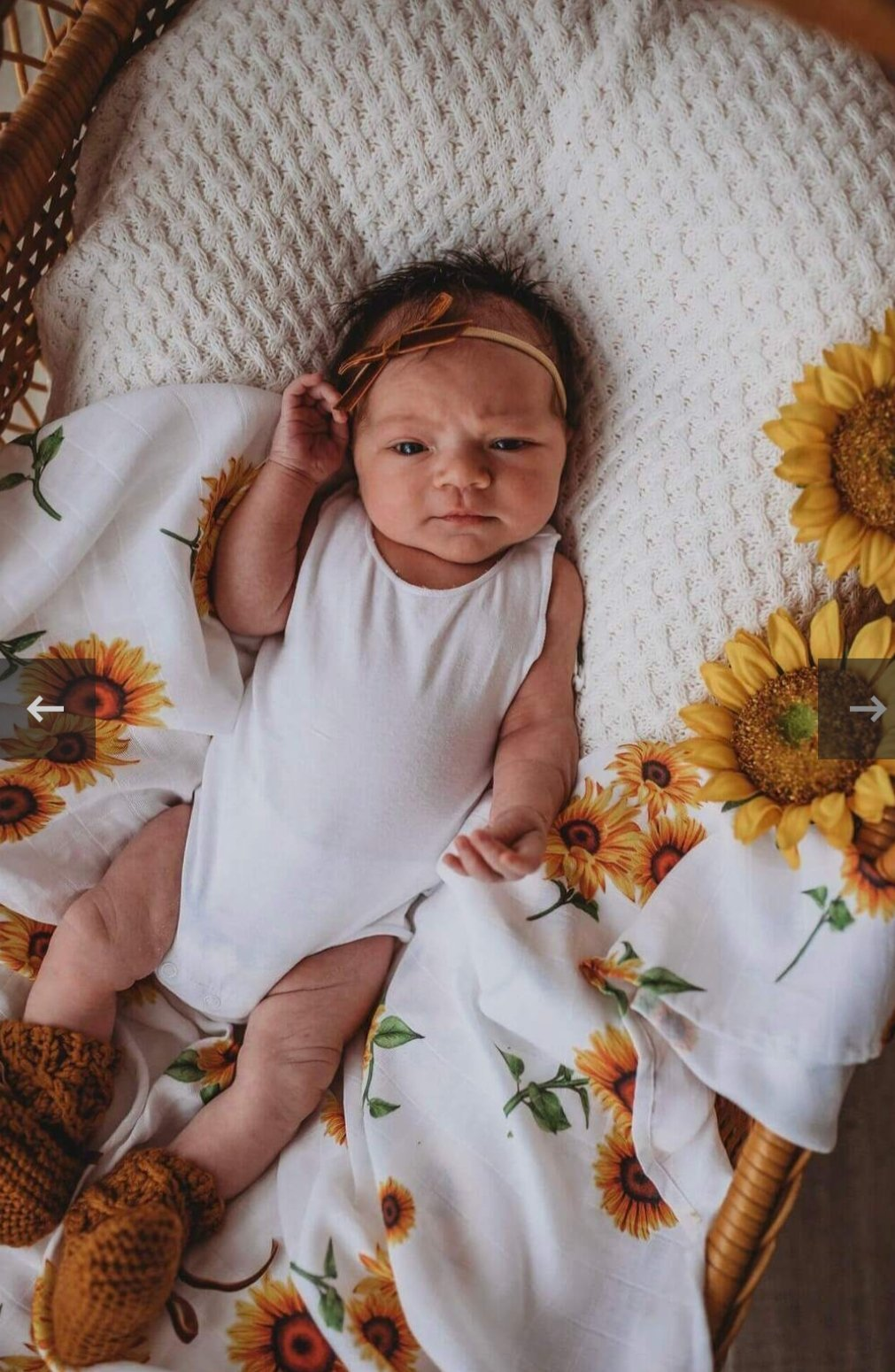 Sunflower | Organic Muslin Wrap - Happily Ever After Boutique