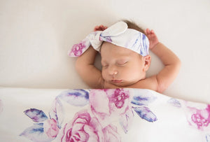 Lilac Skies | Jersey Wrap & Topknot Set - Happily Ever After Boutique