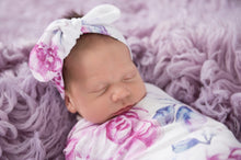 Load image into Gallery viewer, Lilac Skies | Jersey Wrap & Topknot Set - Happily Ever After Boutique