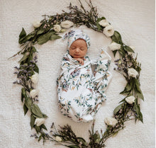 Load image into Gallery viewer, Eucalypt Baby Jersey Wrap & Beanie Set - Happily Ever After Boutique