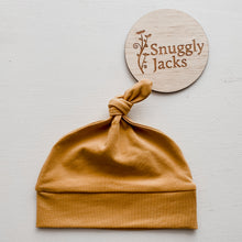 Load image into Gallery viewer, Mustard Knotted Beanie - Happily Ever After Boutique