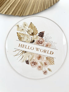 Hello world Floral - Happily Ever After Boutique