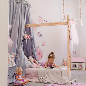 Grey Nursery Canopy - Happily Ever After Boutique