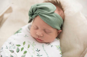 Olive Topknot Headband - Happily Ever After Boutique