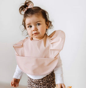 Nude| Snuggle Hunny kids Waterproof Bib - Happily Ever After Boutique
