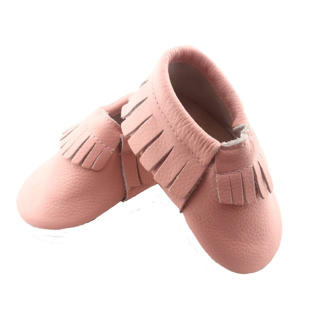 Pink Frilled Moccasin Shoes - Happily Ever After Boutique