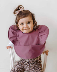 Mauve| Snuggle Hunny kids Waterproof Bib - Happily Ever After Boutique