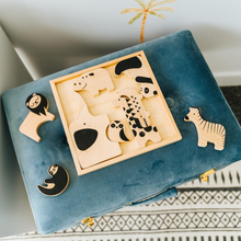Load image into Gallery viewer, Blue Steele Luxe Velvet Storage Stool - Happily Ever After Boutique