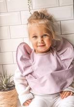 Load image into Gallery viewer, Snuggle Bib - Lavender - waterproof- happilyeverafterboutique.com.au