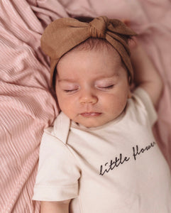 Caramel Topknot Headband - Happily Ever After Boutique