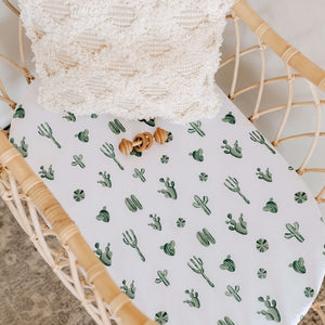 Cactus | Bassinet Sheet / Change Pad Cover - Happily Ever After Boutique