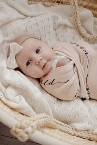 Hello World Earth Muslin Wrap - Happily Ever After Boutique