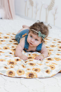 Sunflowers playmat - Happily Ever After Boutique