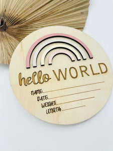 Hello World Rainbow Honey Days - Happily Ever After Boutique