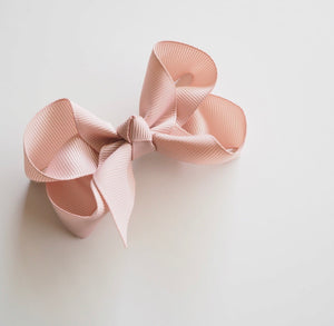 Nude Clip Bow - Small Piggy Tail Pair - Happily Ever After Boutique