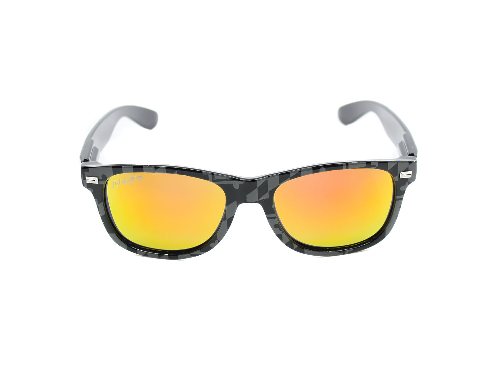 Fultons - MD Stealths II: Black & Gray MD Flag / Orange Polarized