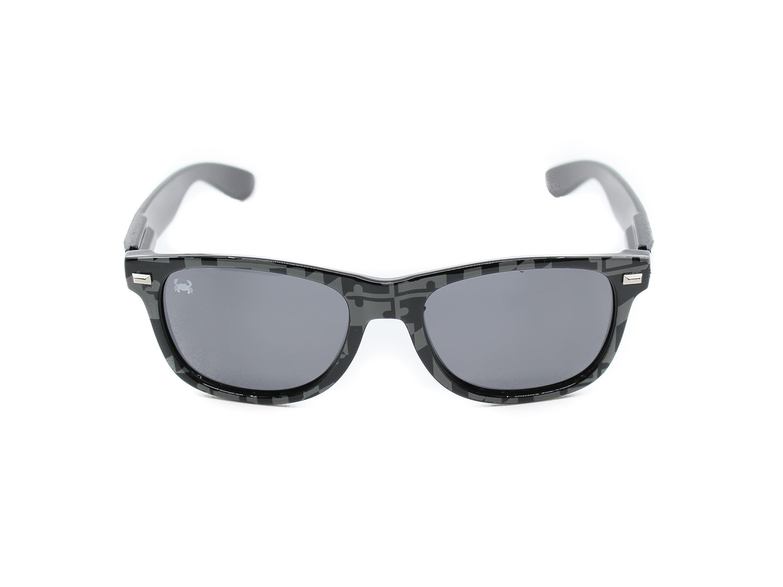 Fultons - MD Stealths: Black & Gray MD Flag / Crab Smoke Polarized