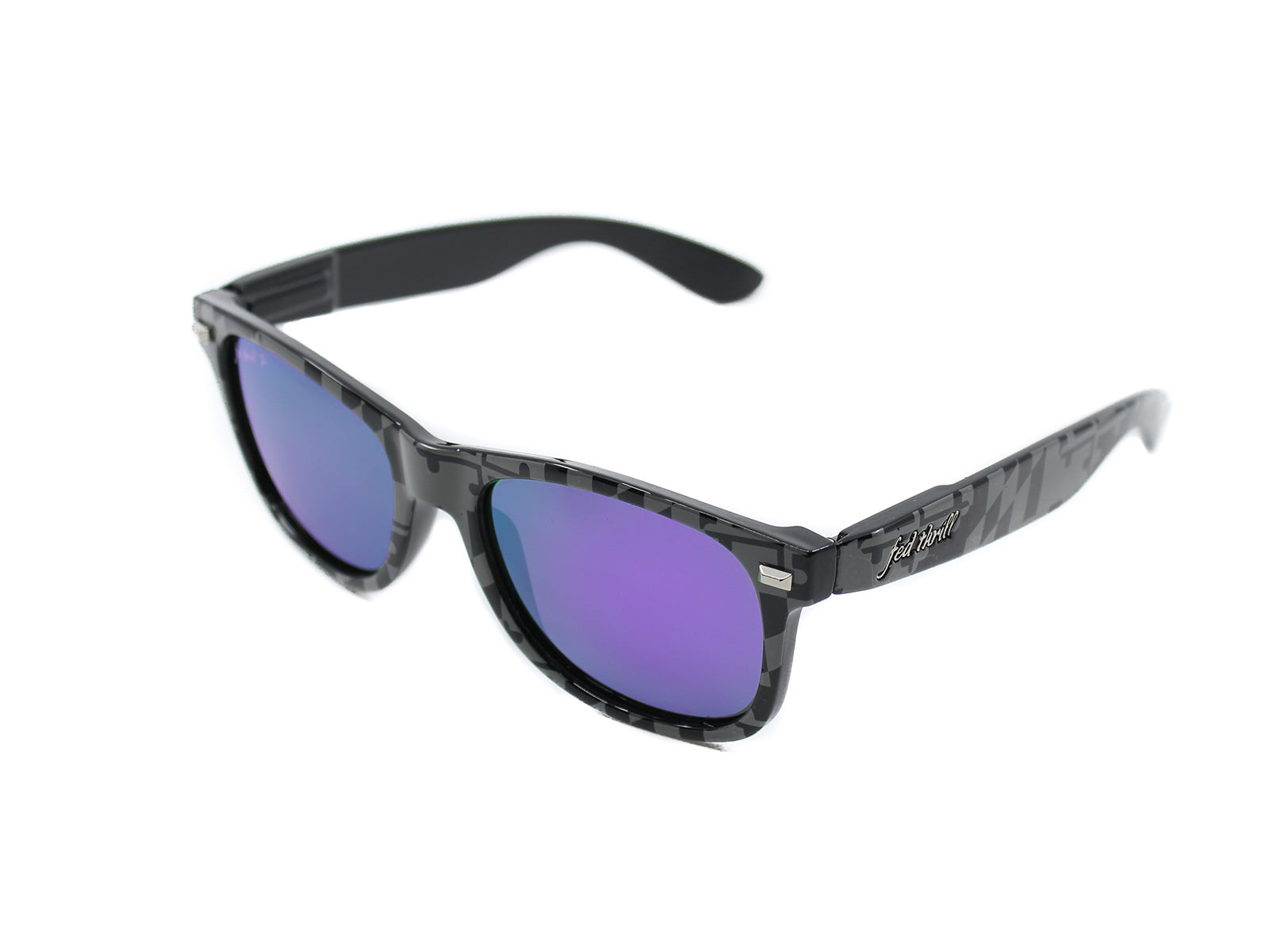 Fultons - MD Stealths III: Black & Gray MD Flag / Purple Polarized