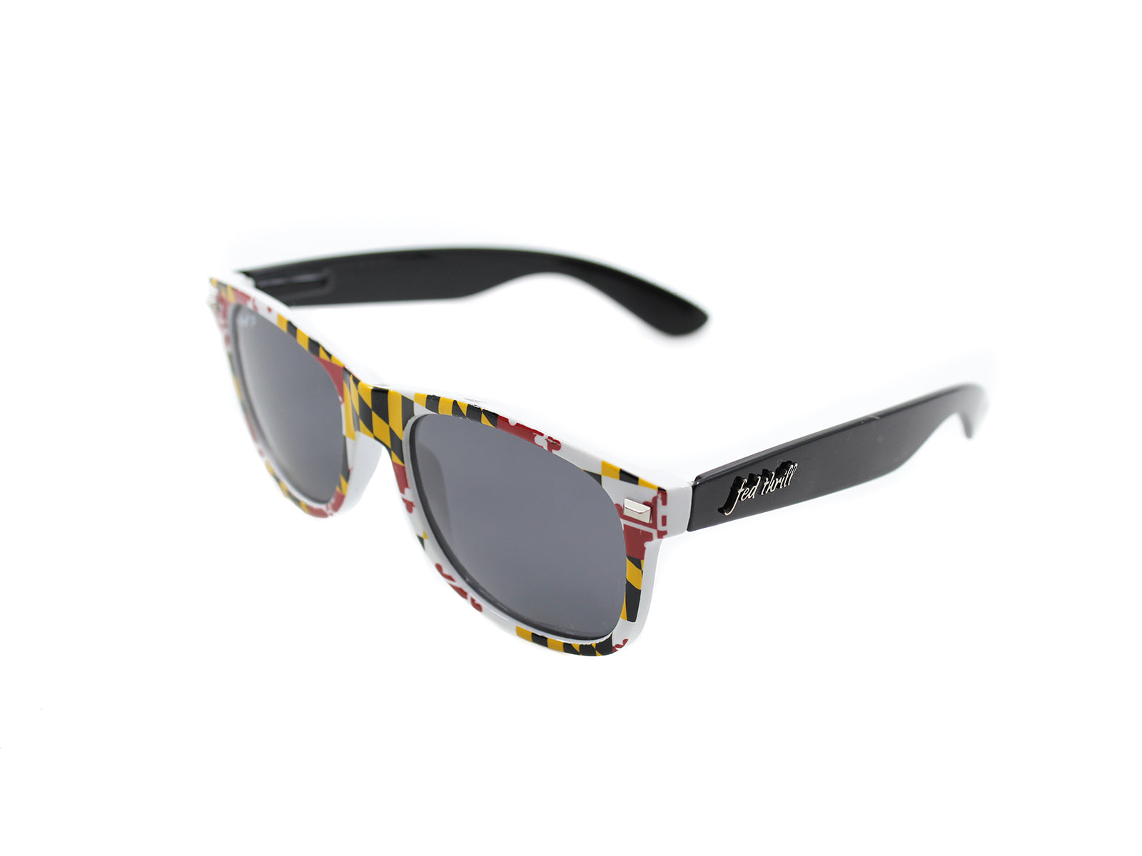 Fultons - Free States: Glossy Maryland Flag / Glossy Black / Smoke Polarized