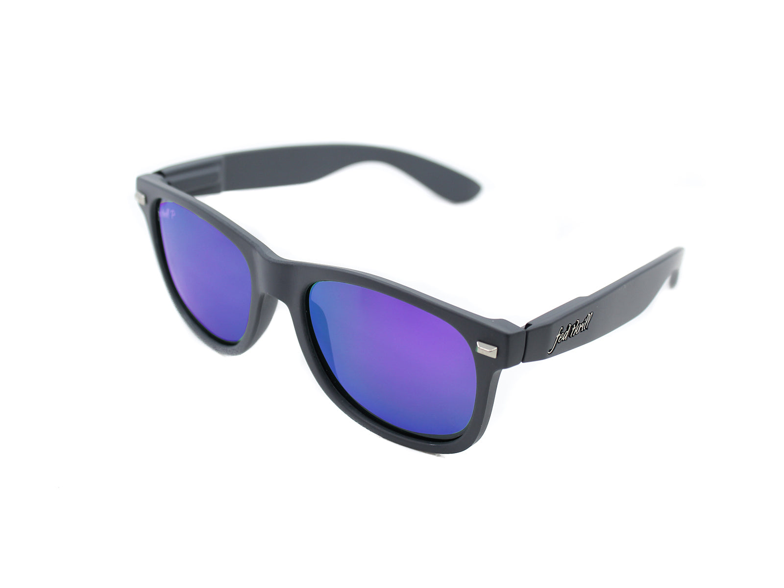 Fultons - Panthers: Matte Gray / Mirrored Purple Polarized