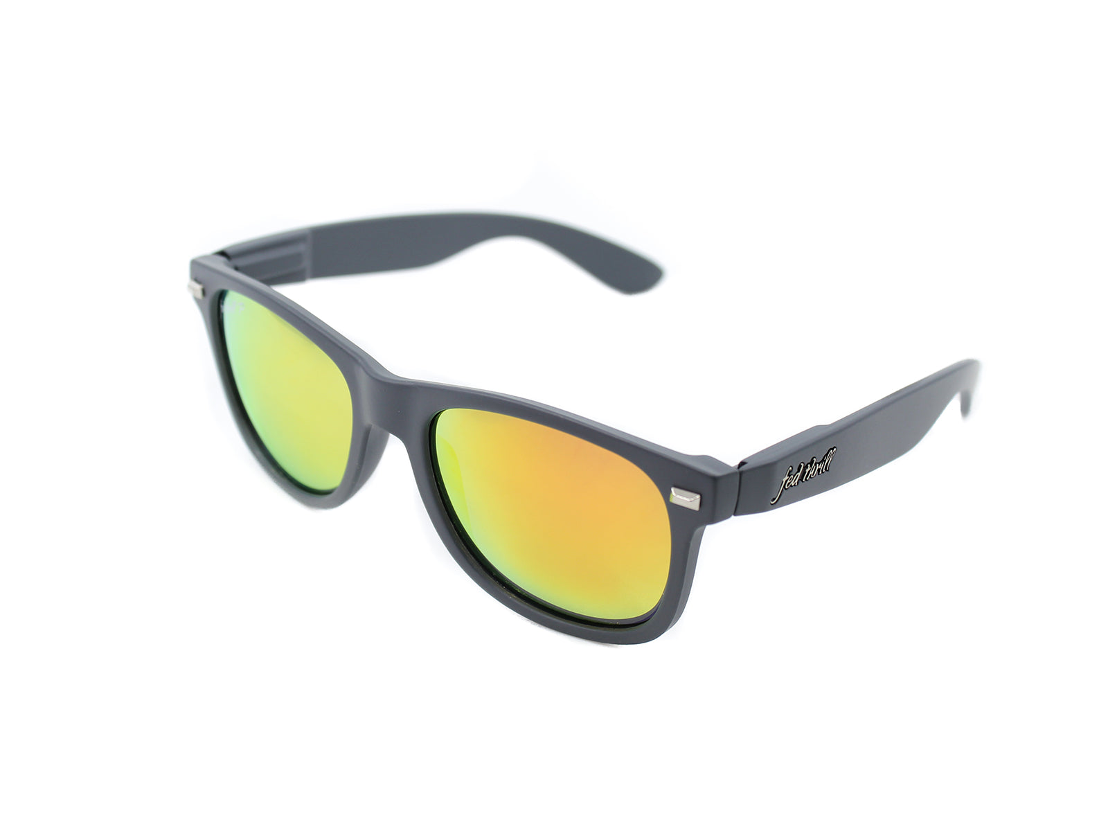 Fultons - Gryphons: Matte Gray / Mirrored Orange Polarized