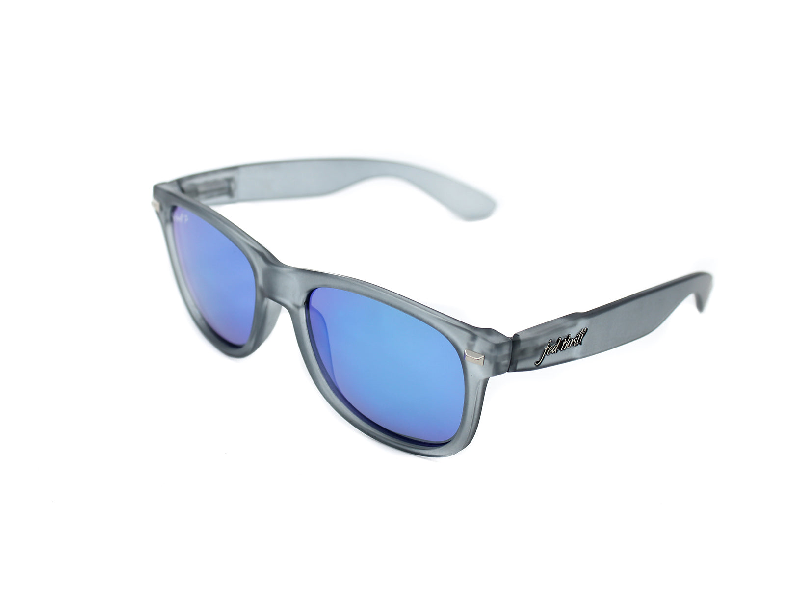 Fultons - Ceruleans: Frosted Gray / Mirrored Blue Polarized