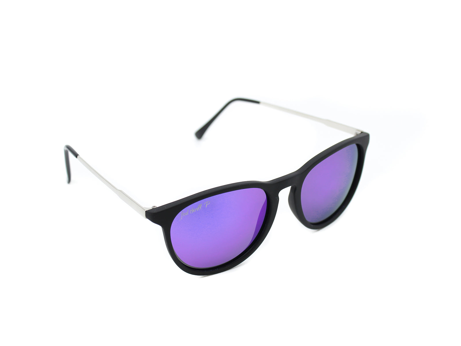 Porters - Talons: Black/ Mirrored Purple Polarized