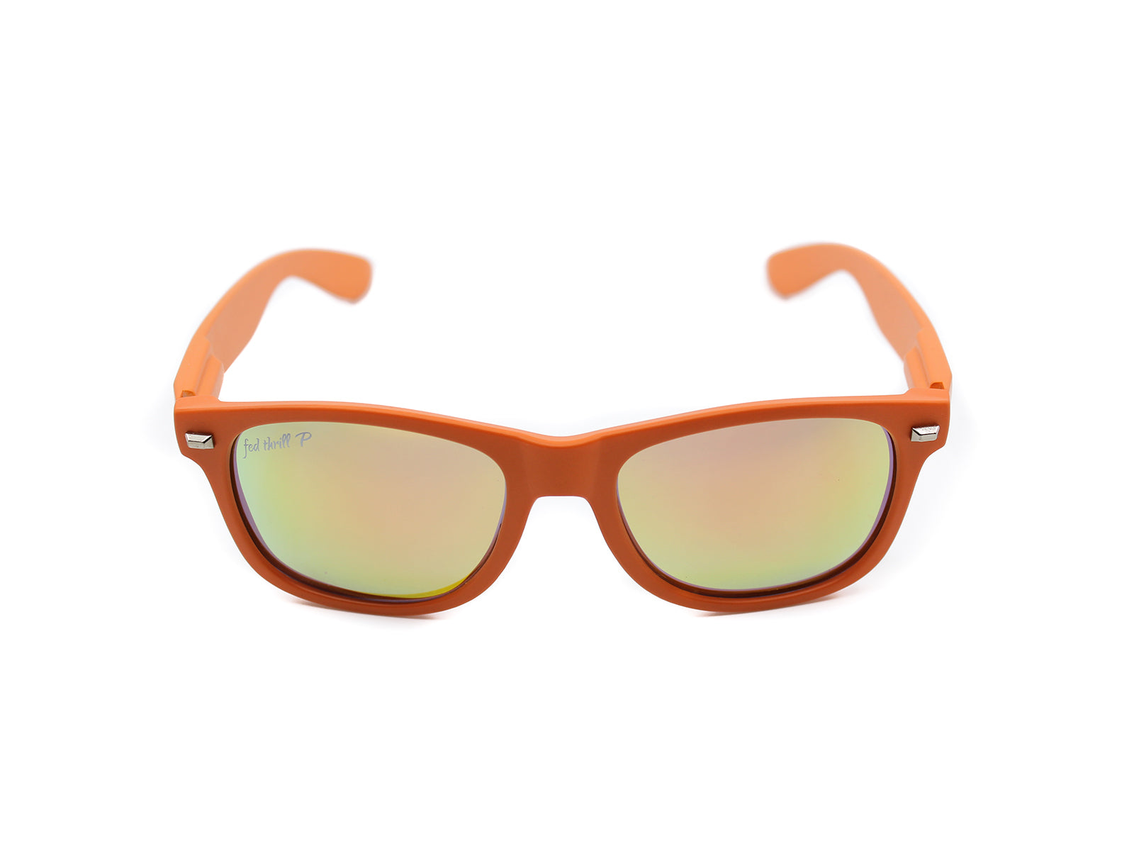 Fultons - Citrus: Matte Orange / Mirrored Orange Polarized