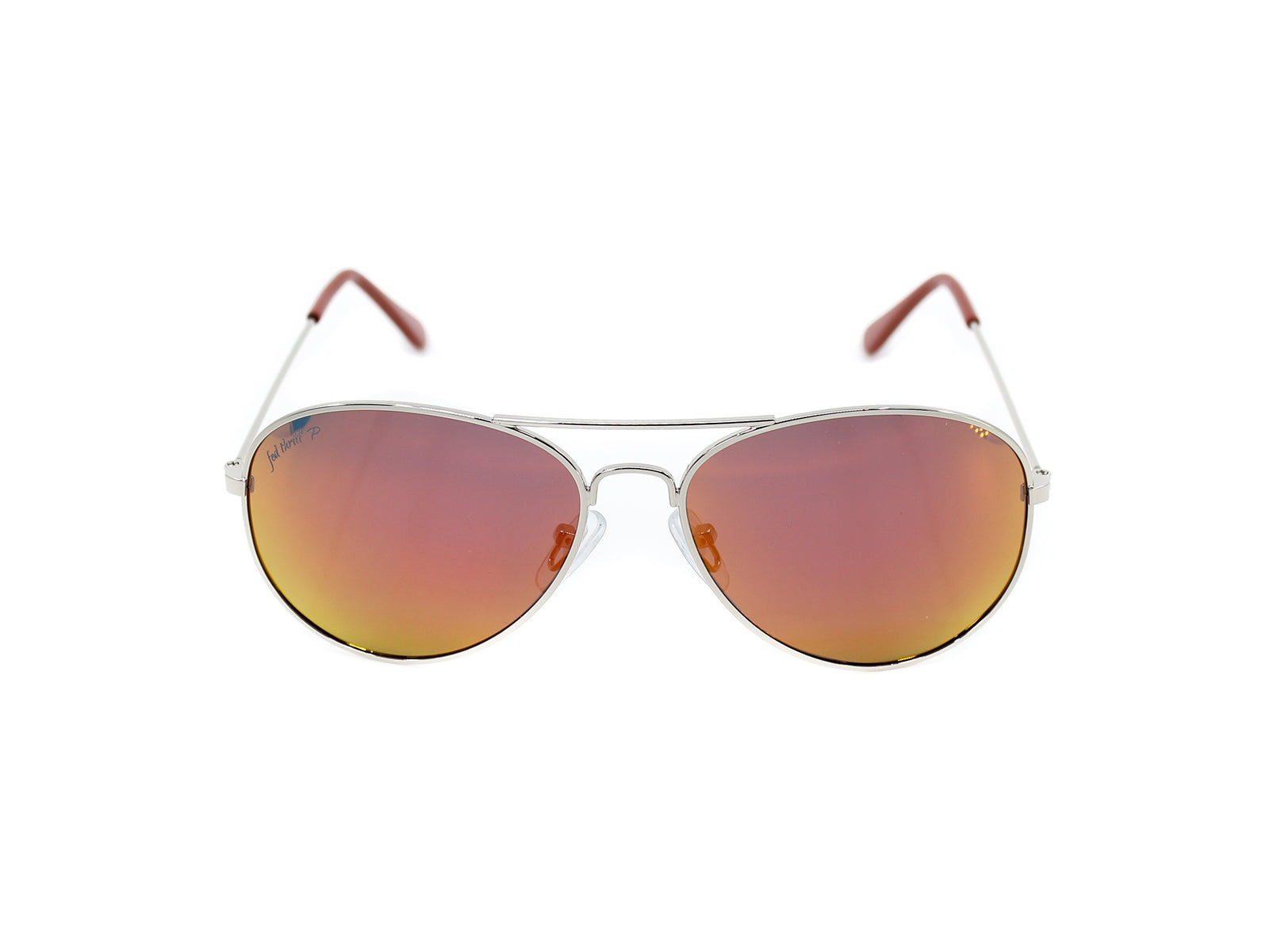Mavericks - Mandarins: Silver / Mirrored Orange Polarized