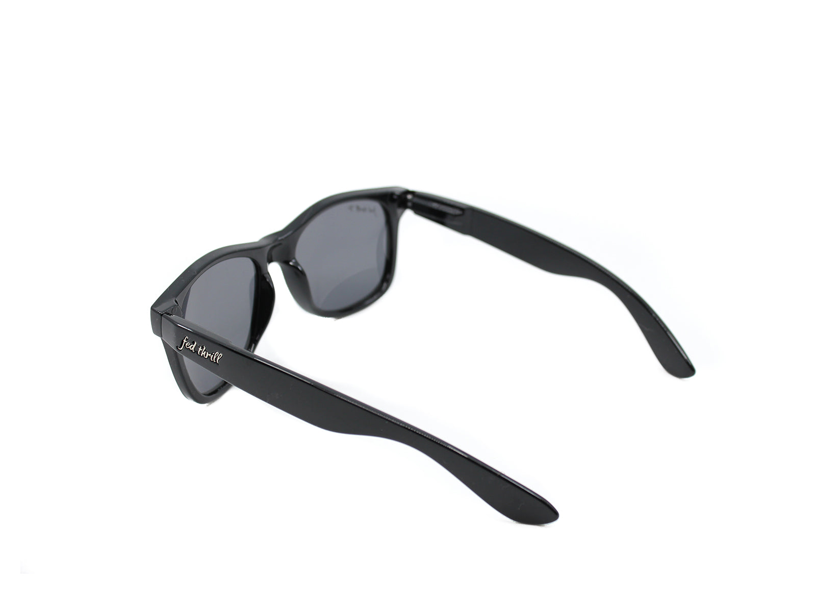 Fultons - Hopkins: Glossy Black / Mirrored Sky Blue Polarized