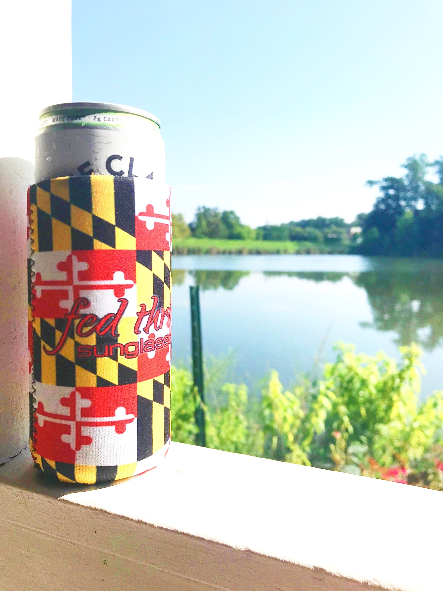 Skinny MD Flag Can Cooler