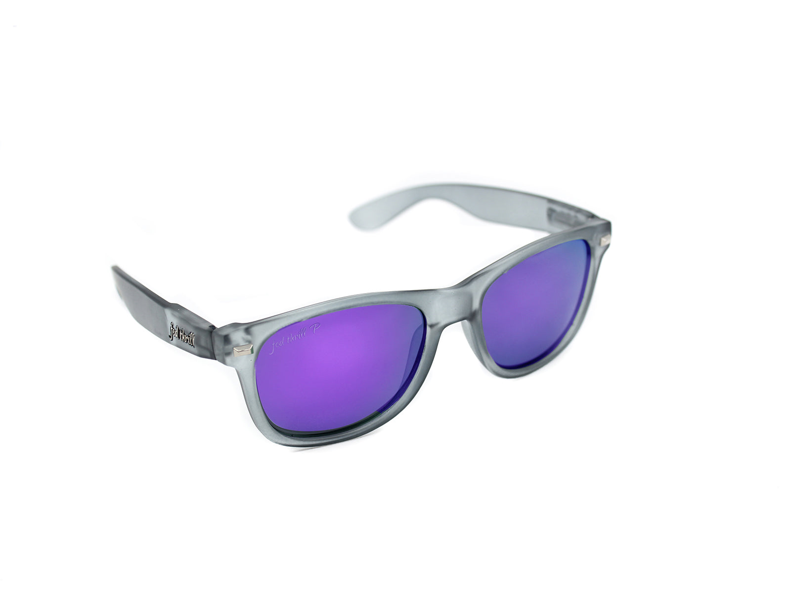 Fultons - Pratts: Frosted Gray / Mirrored Purple Polarized