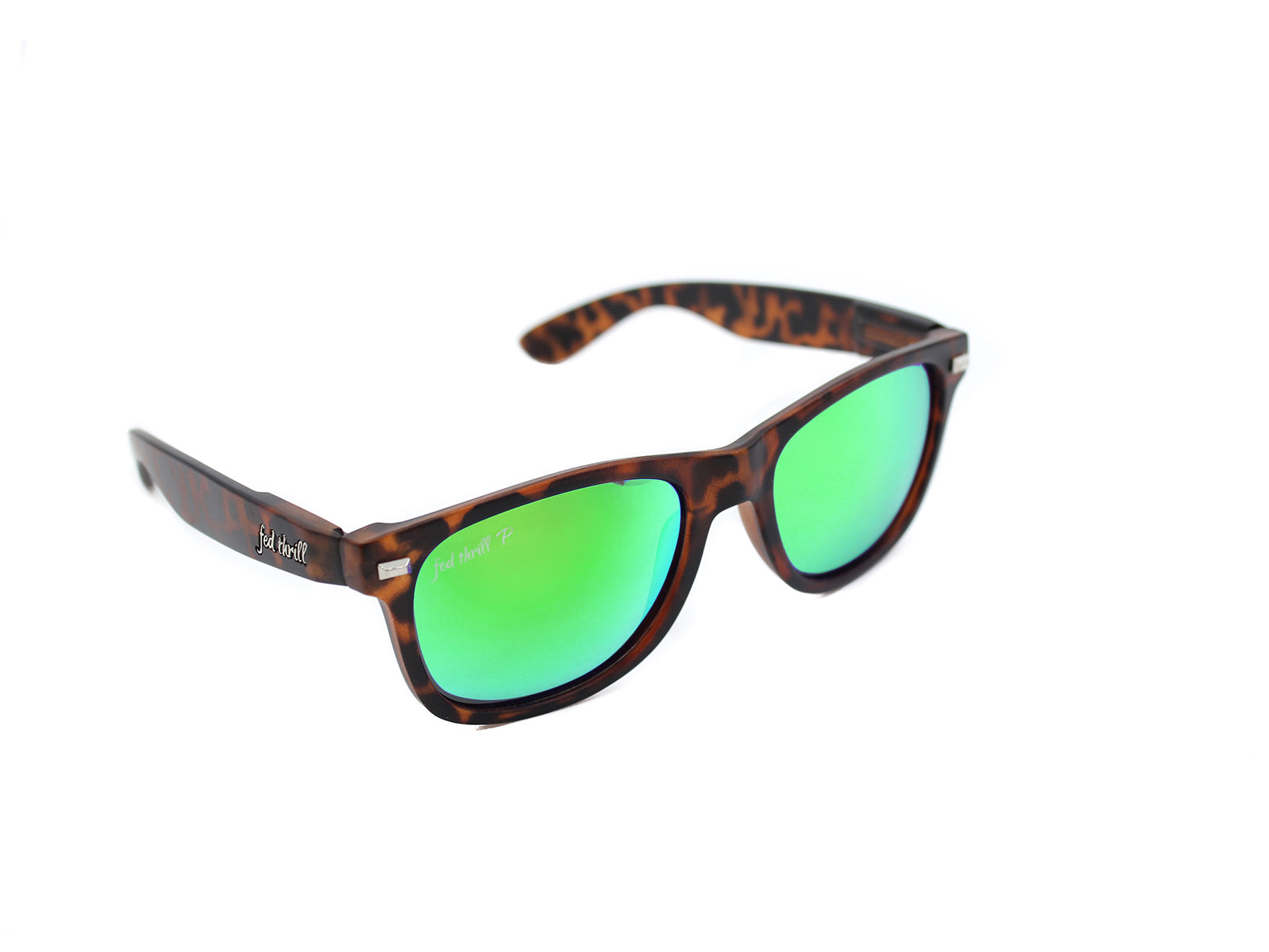 Fultons - Lakesides: Matte Tortoise / Mirrored Green Polarized